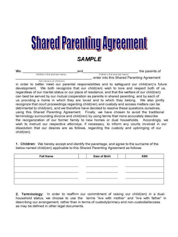 Sample Custody Agreement