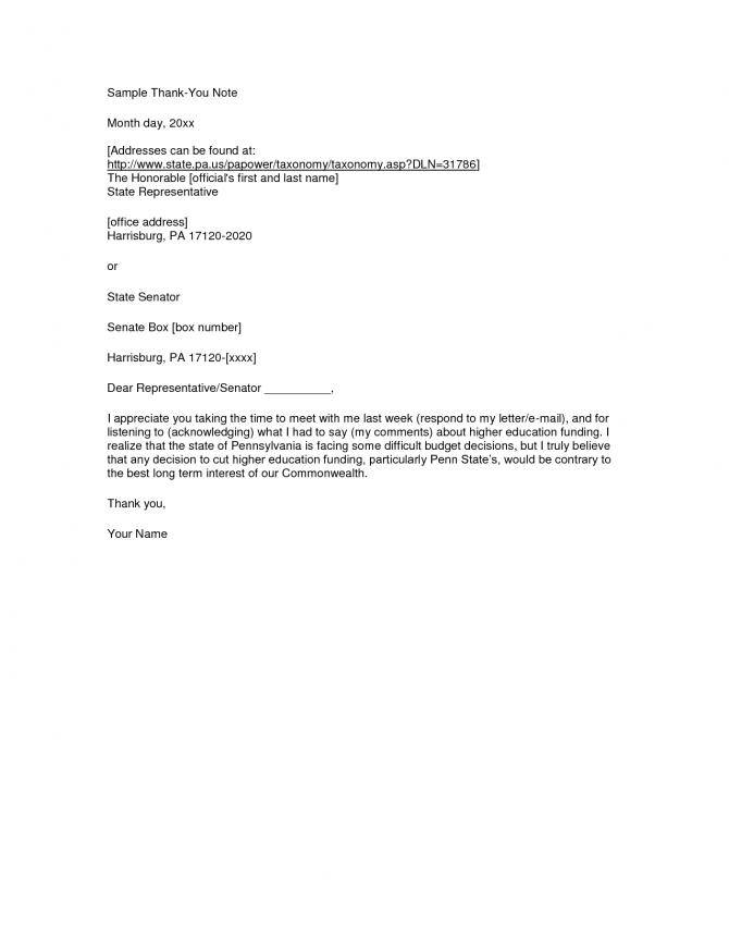 Sample Formal Thank You Letter Formal Letter Sampleformal Letter