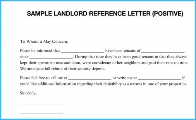 Sample Landlord Reference Letters What Is It   How To Write It