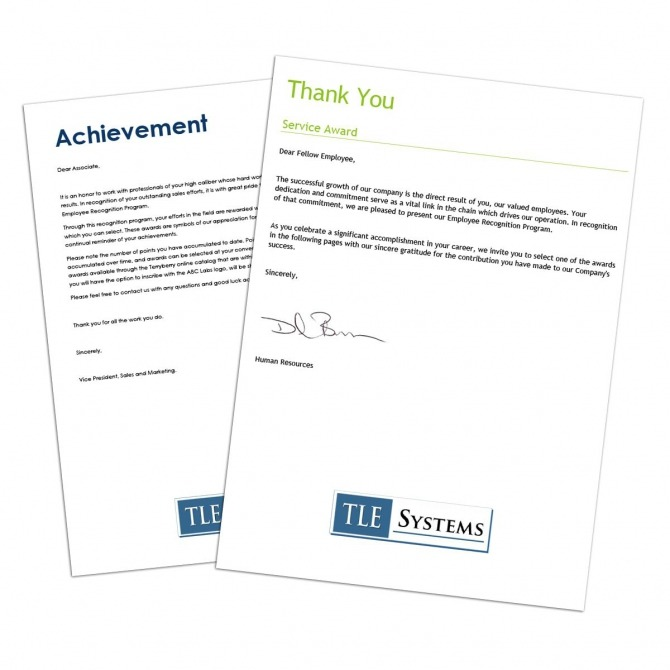 Sample Letter Of Appreciation For Years Of Service