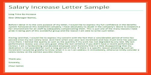 Sample Salary Increment Letter Request For Manager  Assignment Point