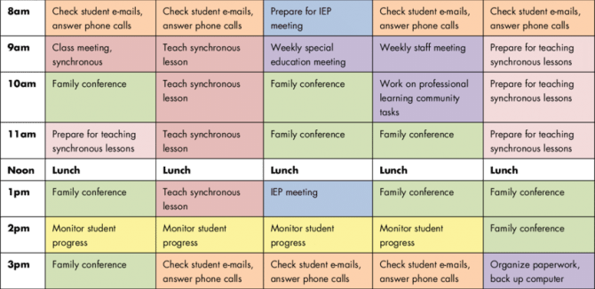 Sample Schedule For Special Education Teachers