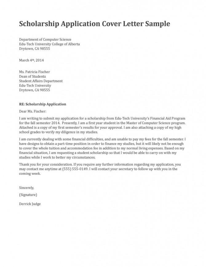 Scholarship Application Letter Sle Budget Template Letter