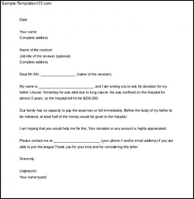 Sle Solicitation Letter For Donations For Word