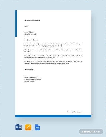 Solicitation Letter Template