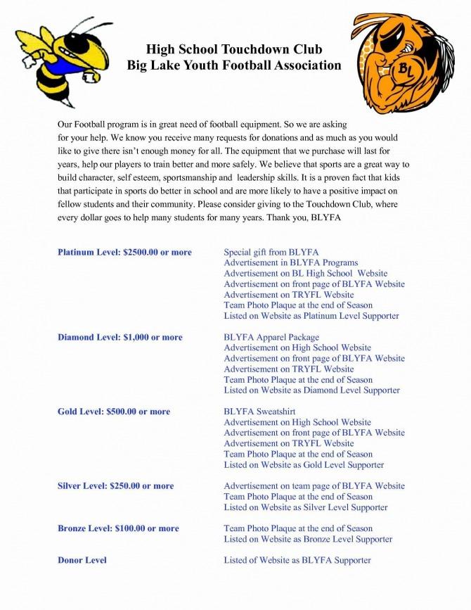 Youth Sports Sponsorship Letter