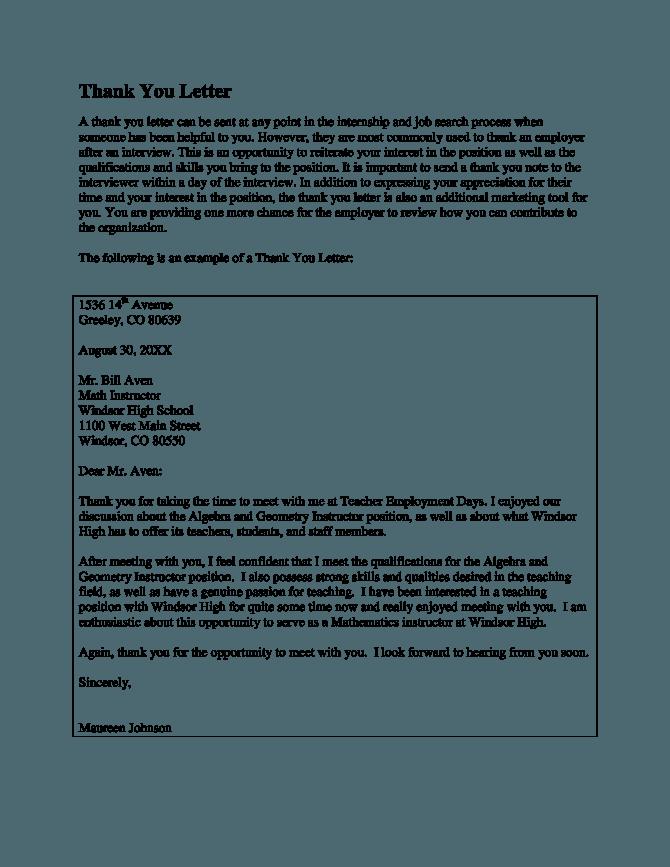 Teacher Mentor Thank You Letter