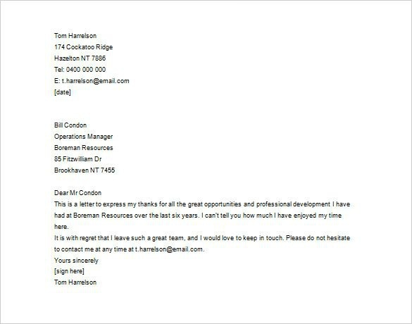 Thank You Letter Employee Free Word Excel Pdf Format Letters After