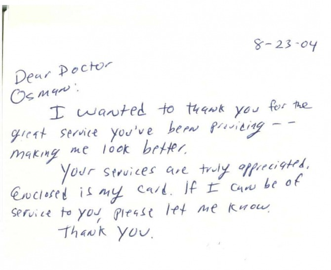 Thank You Letter For Doctor After Surgery  Thank Surgery You