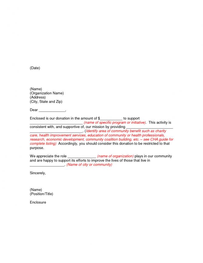 Thanks Letter For Non Profit Donation