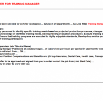 Training Contract Offer Letter