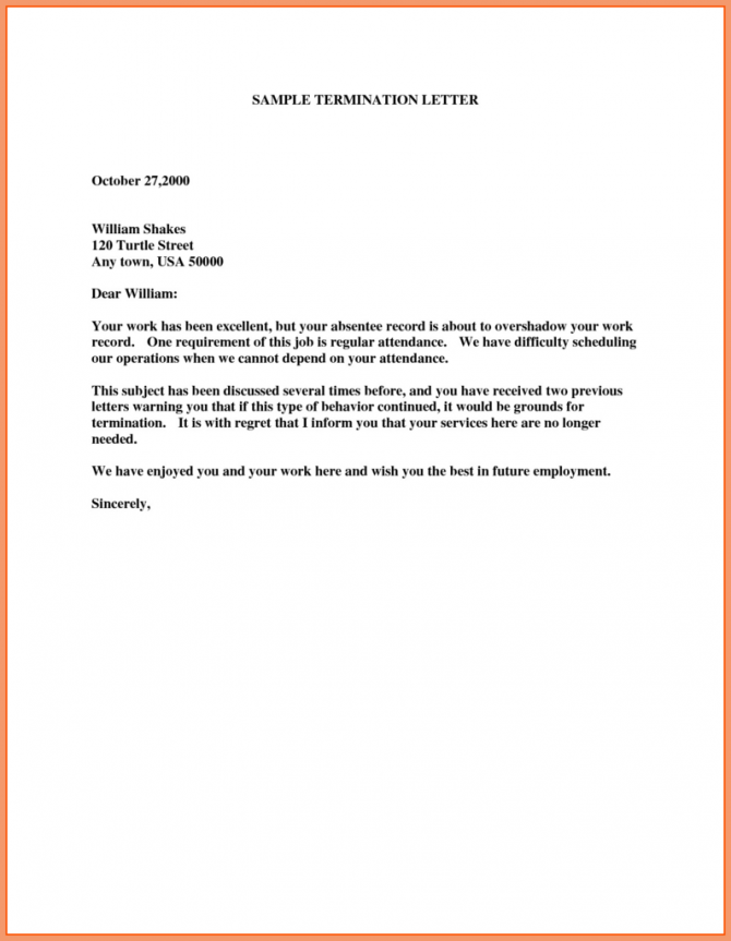Vendor Agreement For Services Fresh Contract Termination Letter