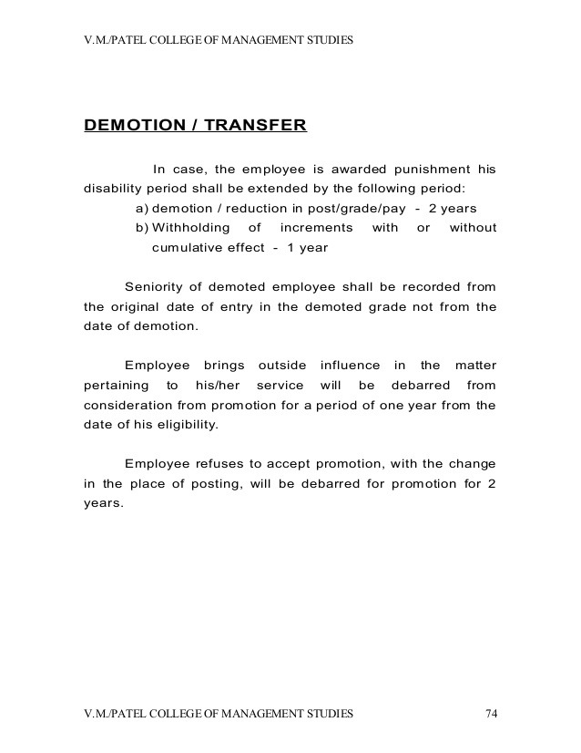 Voluntary Demotion Letter Template  Business Form Letter Template