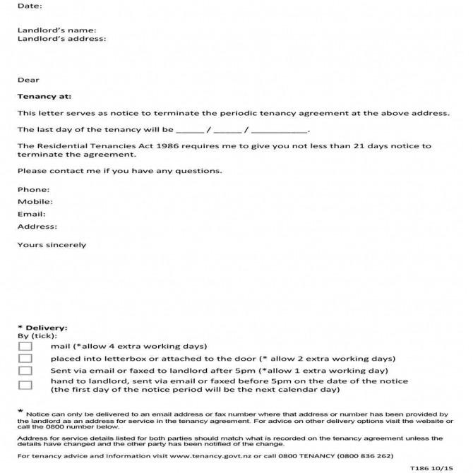 Ways To Write Good Lease Termination Letter