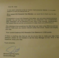 Welcome Letter From The Manager