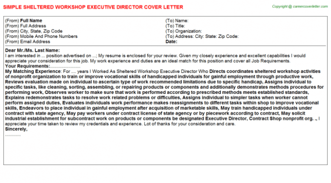 Workshop Facilitator Cover Letters
