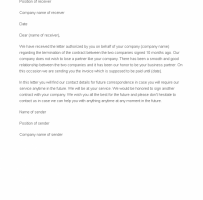 Contract Termination Acceptance Letter