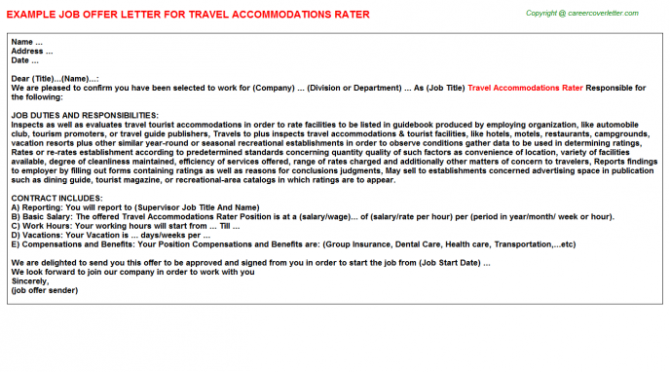 Accommodation Offer Letters