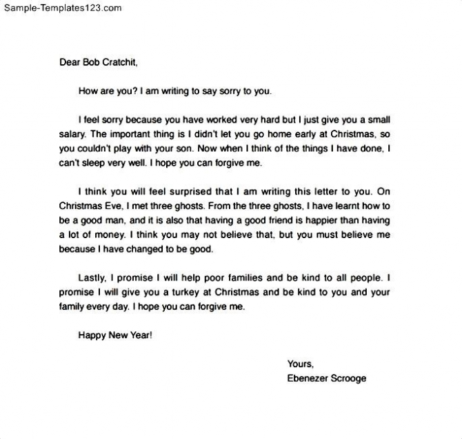 Apology Letter To Friend For Mistake