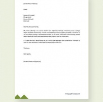 Formal Request Letter To Principal