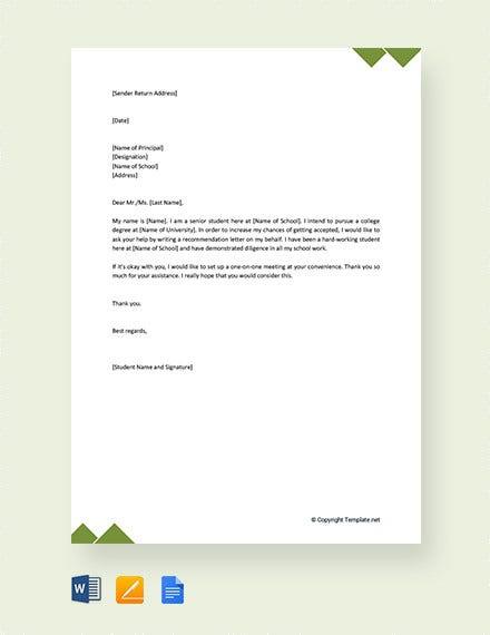 Application Writing In English To Principal