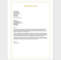 Appointment Cancellation Letter Due To Personal Reasons