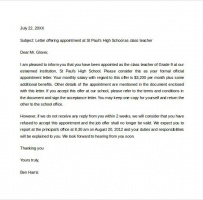 Doctor Appointment Letter For Work