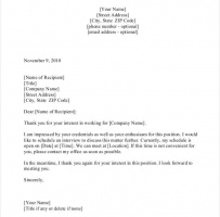 Job Interview Appointment Letter