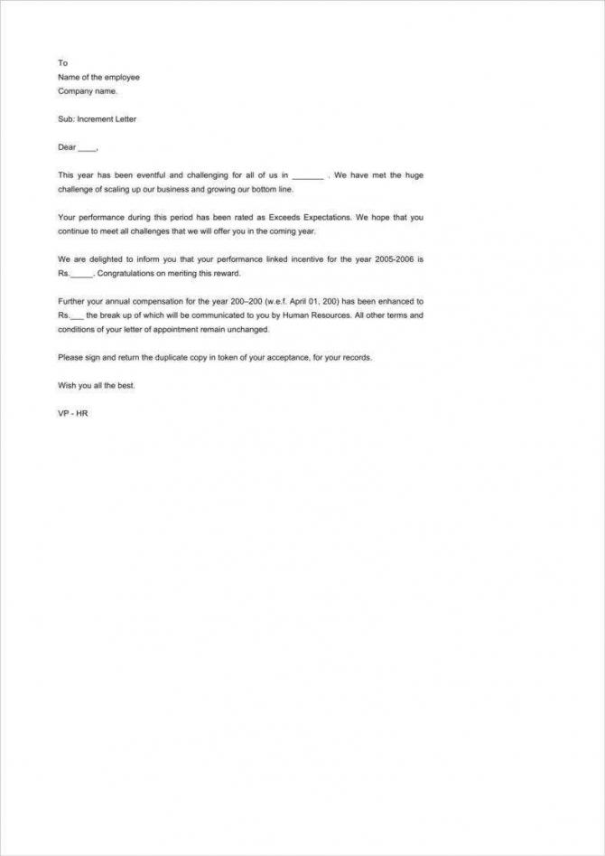 Appraisal Letter Templates