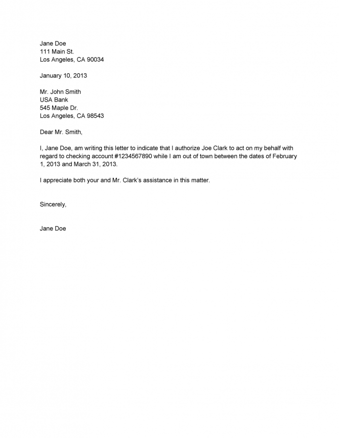 Authorization Letter Samples   Templates  Templatelab