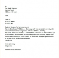 Request Letter To Bank