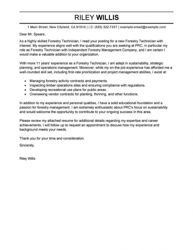 Best Agriculture   Environment Cover Letter Examples