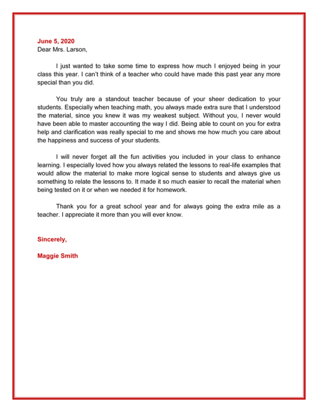 Best Appreciation Letter Samples And Email Examples