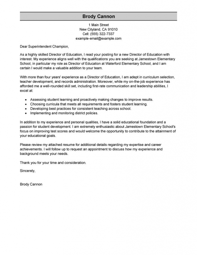Best Director Cover Letter Examples