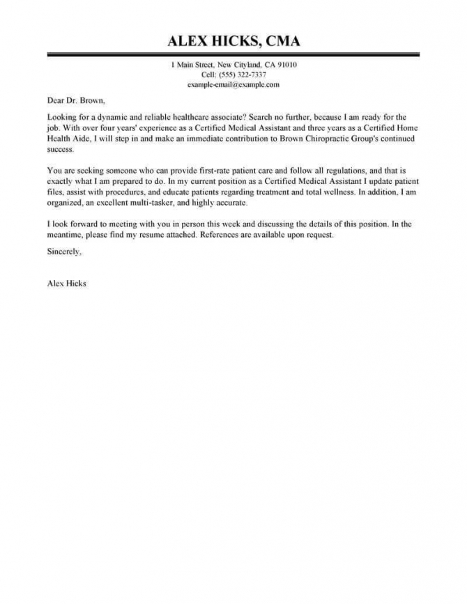 Best Healthcare Cover Letter Examples