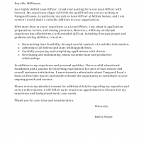 Commercial Loan Underwriter Cover Letter
