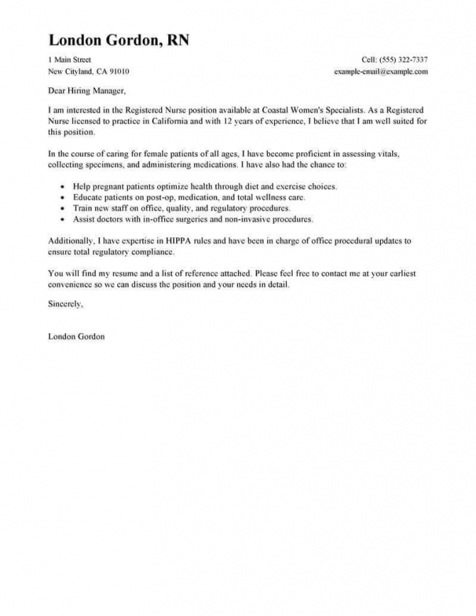 Best Registered Nurse Cover Letter Examples