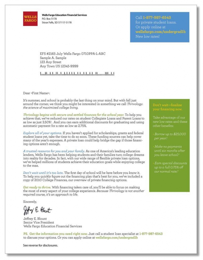 Better Than One  Wf Thrivology Direct Mail Letter
