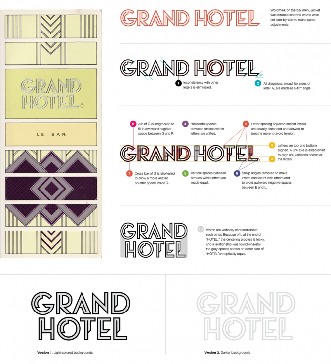 Brand Identity  For Grand Hotel On Behance