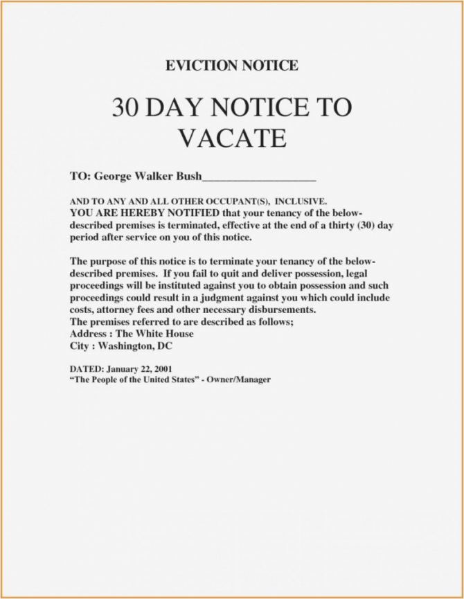 Browse Our Sample Of  Day Eviction Letter Template