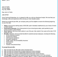 Standard Job Appointment Letter