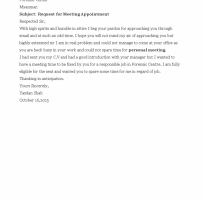 Appointment Request Letter For Business Meeting