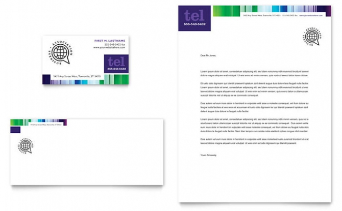 Business Leadership Conference Business Card   Letterhead Template