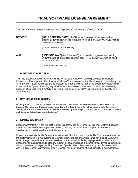 Business Licensing Requirements Document Templates