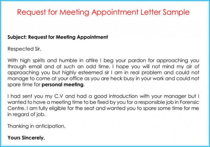Company Appointment Letters