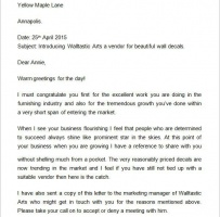 Company Introduction Letter Format