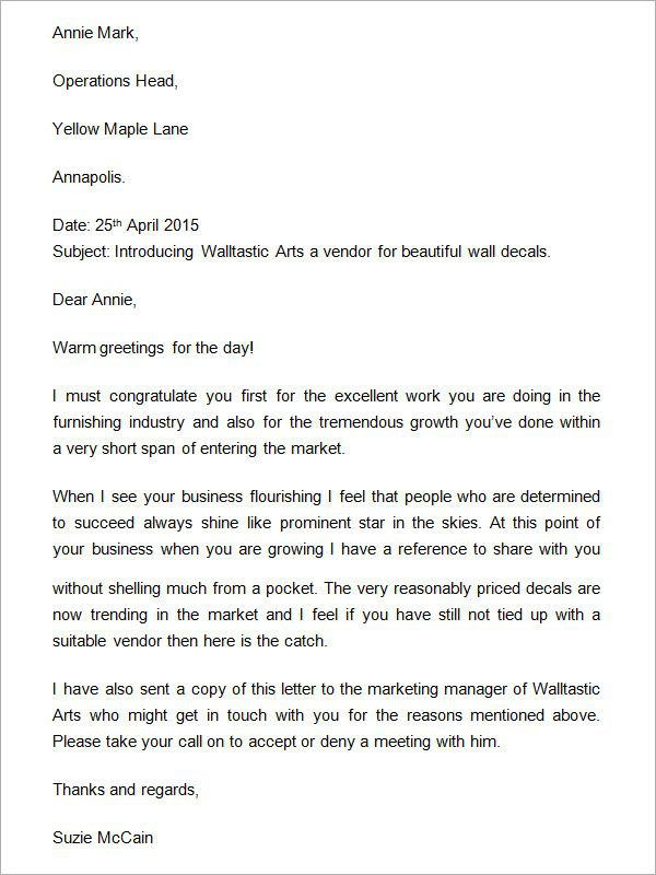 Company Introduction Letter