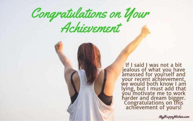 Congratulation Messages On Achievement   Success  Quotes