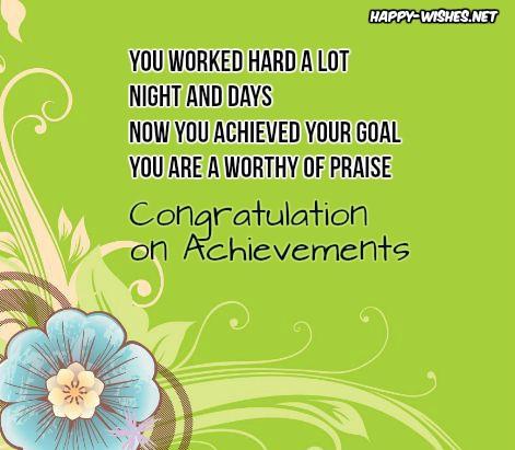 Congratulations On Achievement
