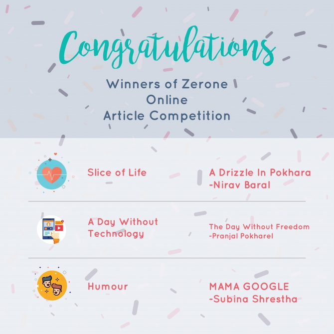 Congratulations To The Winners Of The Zerone Article Writing